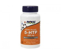 5-Гидрокситриптофан с Глицином Таурином и Инозитолом, Double Strenght 5-HTP NOW Foods, 60 капсул