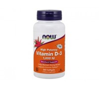 Витамин D-3 1000 МЕ, Vitamin D-3 NOW Foods, 180 пастилок