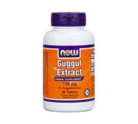 Гуггул экстракт 750 мг Guggul Extract NOW Foods, 90 капсул