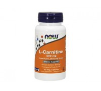 L-Карнитин 500 мг L-Carnitine NOW Foods, 60 капсул