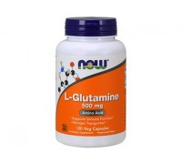 L-Глютамин 500 мг, L-Glutamine NOW Foods, 120 капсул