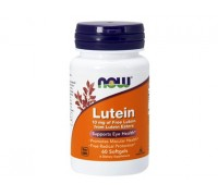 NOW Lutein, Лютеин 10 мг, 60 капсул