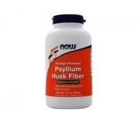 Подорожник Стевия, Psyllium Husk Fiber NOW Foods, 340 гр