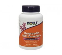 Кверцетин с Бромелаином, Quercetin with Bromelain NOW Foods, 120 капсул