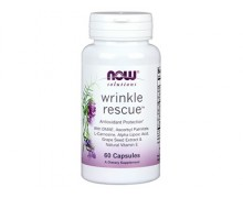 NOW Wrinkle Rescue, Капсулы от Морщин, 60 капсул
