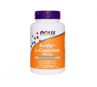 NOW Acetyl-L-Carnitine, Ацетил-L-Карнитин 500 мг, 50 капсул