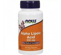 Альфа-Липоевая Кислота 250 мг, Alpha Lipoic Acid NOW Foods, 60 капсул