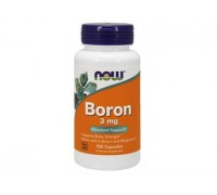 Бор 3 мг, Boron NOW Foods, 100 капсул