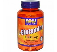 L-Глютамин 1000 мг, L-Glutamine NOW Foods, 120 капсул
