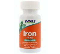 Железо 36 мг, Iron NOW Foods, 90 капсул