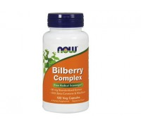 NOW Bilberry Complex, Черника Комплекс, 100 капсул