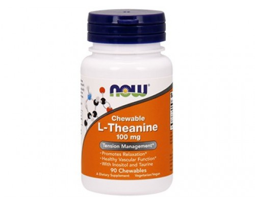 L-Тианин 100 мг, L-Theanine NOW Foods, 90 капсул