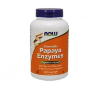 Папайя Энзимы Ферменты, Papaya Enzymes NOW Foods, 180 пастилок