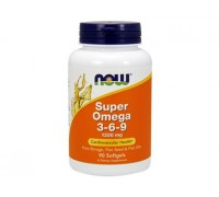 Супер Омега 3-6-9 1200 мг, Super Omega 3-6-9 NOW Foods, 90 капсул