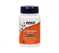 L-Тирозин 500 мг, L-Tyrosine NOW Foods, 60 капсул