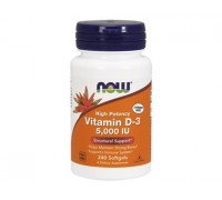 Витамин D-3 5000 МЕ, Vitamin D-3 NOW Foods, 240 капсул