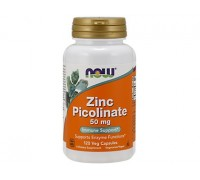 Цинк Пиколинат 50 мг, Zinc Picolinate NOW Foods, 120 капсул